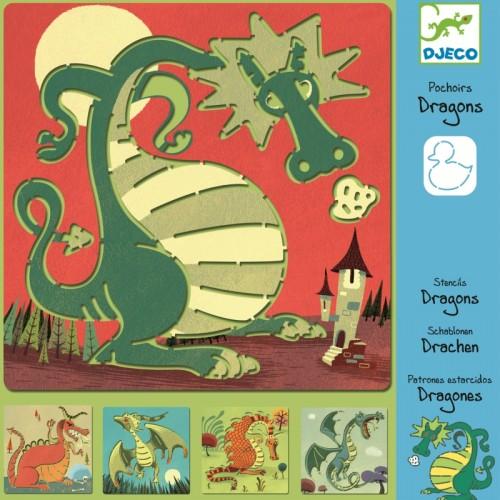 Sabloane de desen cu dragoni Djeco