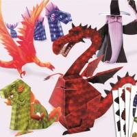 Creeaza dragoni din hartie Djeco