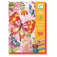 Joc creativ cu sclipici colorat fluturi Djeco