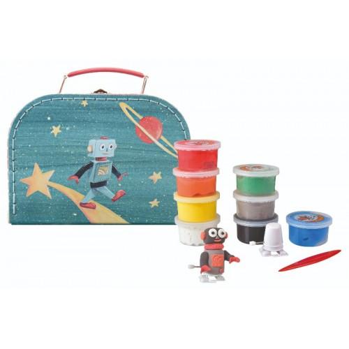 Set de modelaj cu plastilina Astro Robot Egmont Toys