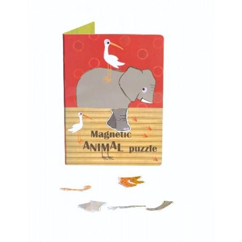 Puzzle magnetic cu animale Egmont