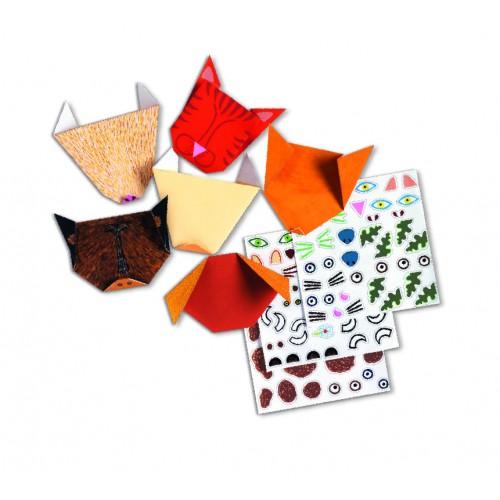 Creeaza origami portrete animale Djeco
