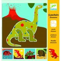 Sabloane de desen cu dinozauri Djeco
