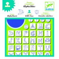 Set stampile cu litere alfabet Djeco