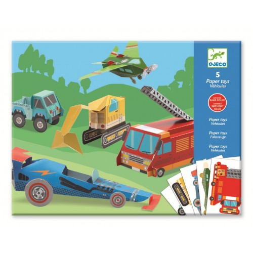 Creeaza vehicule din hartie Djeco