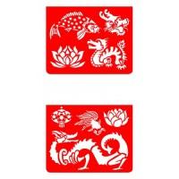 Sabloane desen cu animale asiatice Djeco