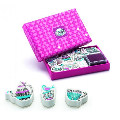 Set stampile cu tematica de ceai Djeco