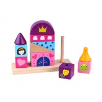 Castel de stivuit din lemn Tooky Toy