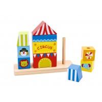 Circul de stivuit din lemn Tooky Toy