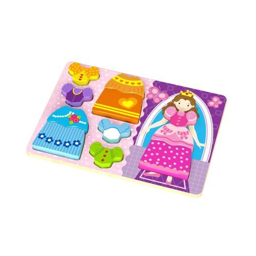 Puzzle lemn imbraca printesa Tooky Toy