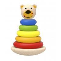 Piramida de stivuit ursulet din lemn Tooky Toy