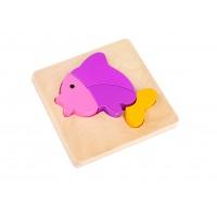 Mini Puzzle lemn pestisor Tooky Toy