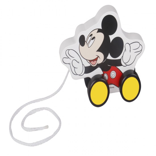 Mickey Mouse jucarie de tras din lemn Disney