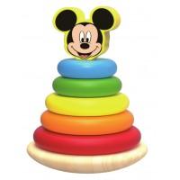 Piramida de stivuit inele colorate din lemn si Mickey,Disney