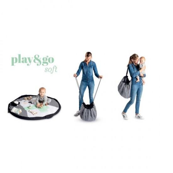 Covor joaca moale,pufos si organizator jucarii Ursulet Play&Go