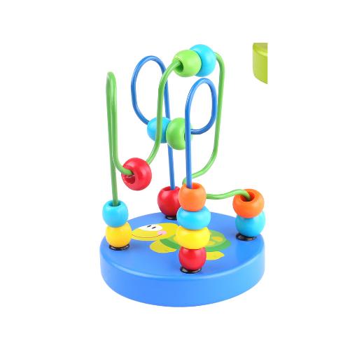 Mini labirint cu margele colorate albastru Tooky Toy