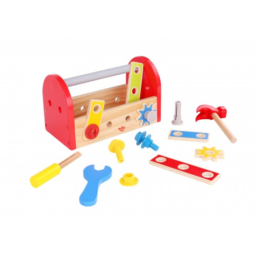 Trusa de unelte si scule din lemn Tooky Toy