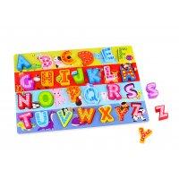 Puzzle din lemn Litere Tooky Toy