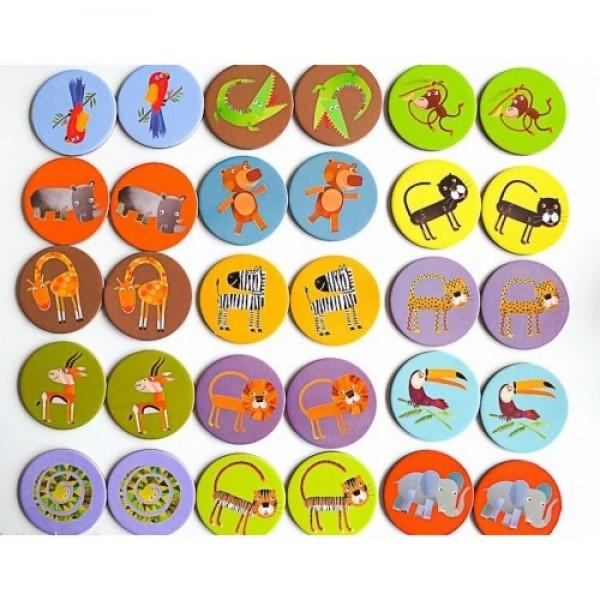 Joc Memorie Animale Din Jungla Djeco Kizoro