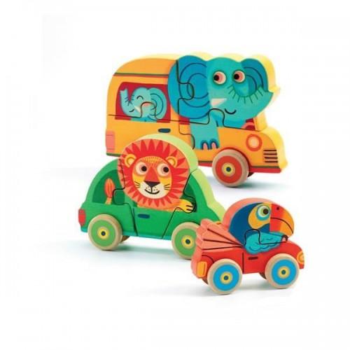 Puzzle lemn figurine PachyCo Djeco