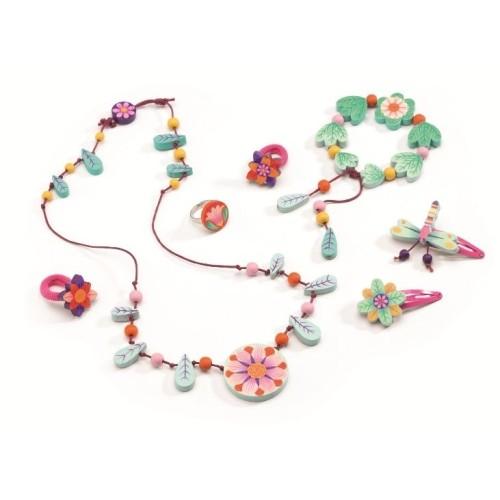 Set bijuterii din lemn florile in paradis Djeco