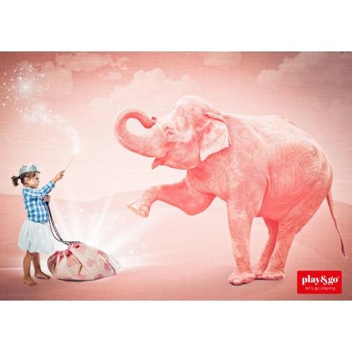 Covor joaca si organizator jucarii Elefant roz