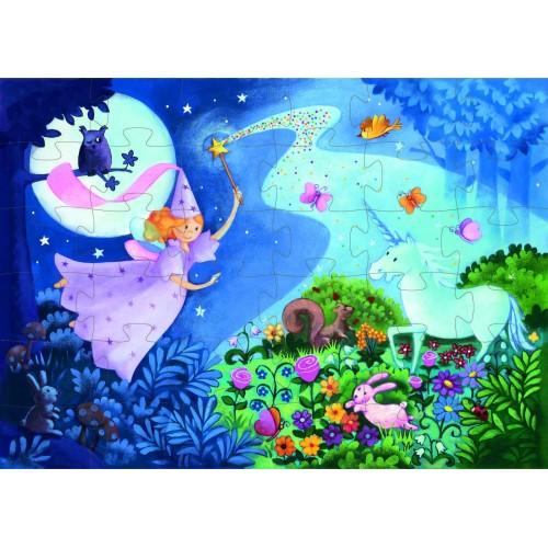 Puzzle zana si unicornul Djeco