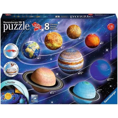 Puzzle 3D sistemul solar 108 piese