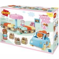 Joc constructie piata Twee Pop Abrick cu masina si figurine Ecoiffier