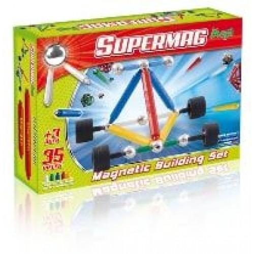 Set constructie magnetic 35 piese Maxi Wheels