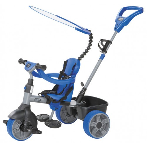 Tricicleta 4 in 1 albastra Little Tikes