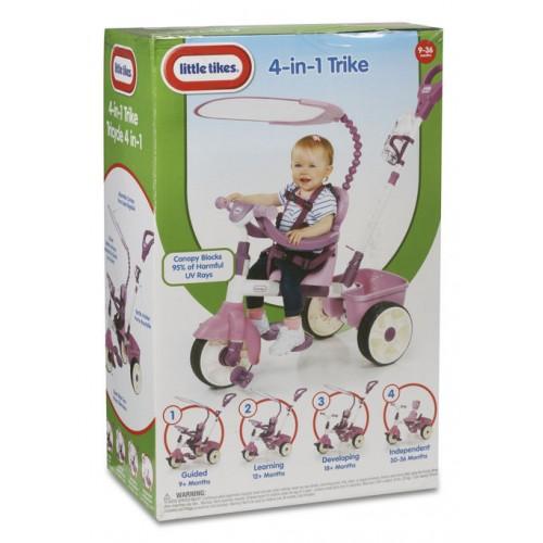 Tricicleta 4 in 1 roz Little Tikes