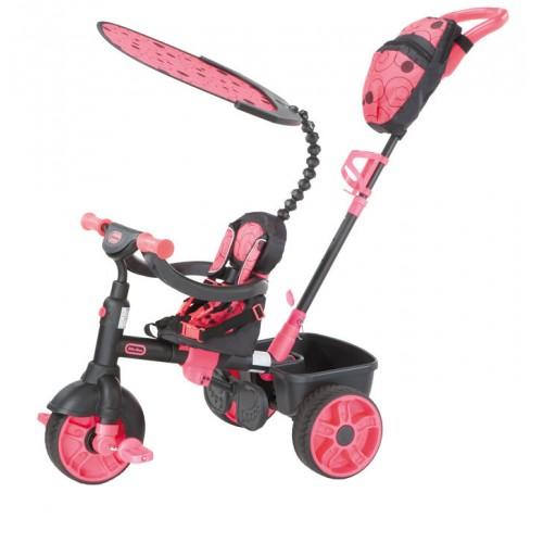 Tricicleta 4 in1 roz neon Little Tikes