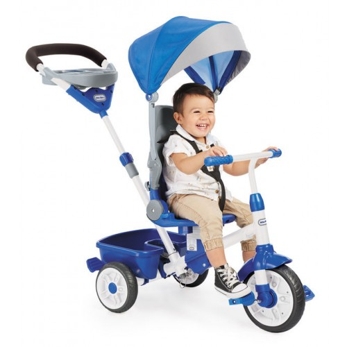 Tricicleta Perfect Fit 4 in1 albastra Little Tikes