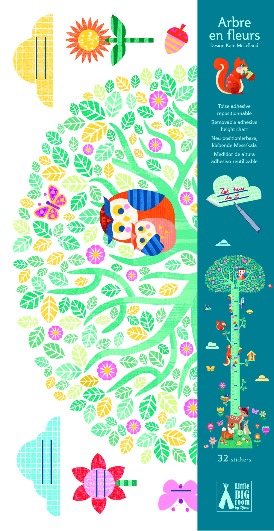 Abtibild masuratoare copii Copac Djeco