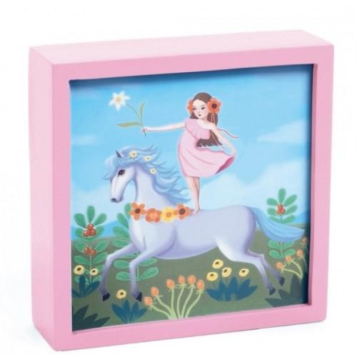 Tablou luminos unicornul feeric Djeco