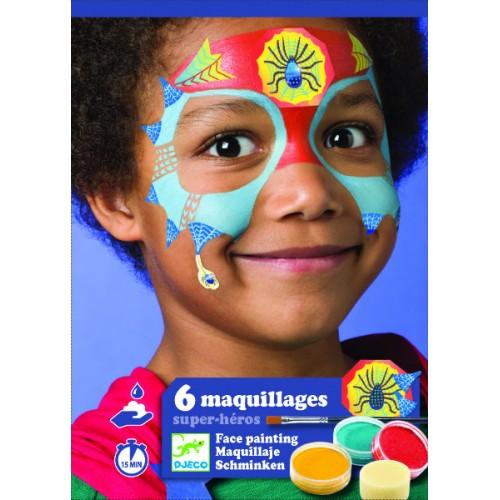 Set make-up culori non alergice super-eroi Djeco