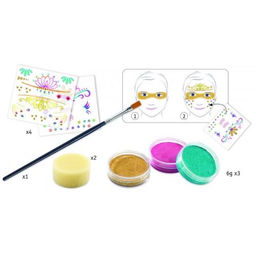Set make-up culori non alergice printese Djeco