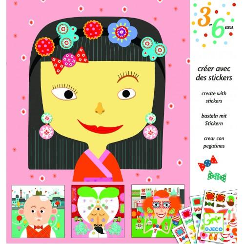 Joc creativ creeaza portrete Djeco