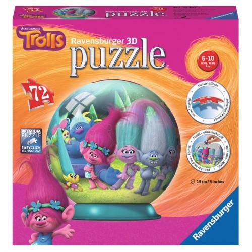 Puzzle 3D Trolls 72 piese