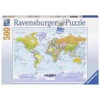 Puzzle Harta Politica A Lumii, 500 Piese