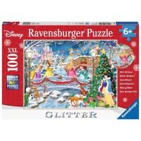 Puzzle Craciunul Printeselor Disney, 100 Piese Xxl