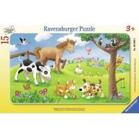 Puzzle animale prieteni 15 piese Ravensburger