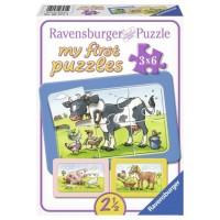 Puzzle animale prieteni 3X6 piese Ravensburger