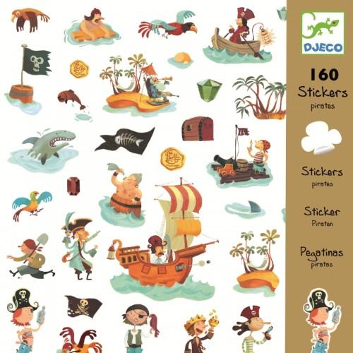 Abtibilduri cu pirati Djeco