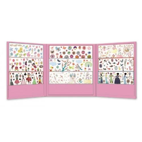 1000 Abtibilduri colorate fete Djeco