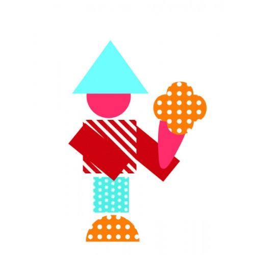 800 abtibilduri si stickere geometrice Djeco