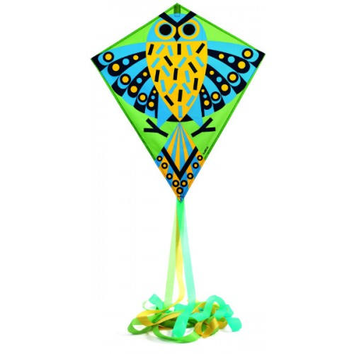 Zmeu colorat verde cu galben Hiboo Djeco