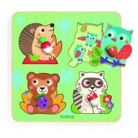 Puzzle animale din padure Djeco