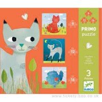 Puzzle-uri progresive pisicute Djeco